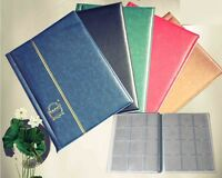 10 Pages Coin Stock Book 120 Pocket Album for 2x2 Paper Flip Holders Storage