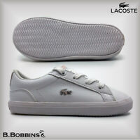 B Grade Lacoste Lerond 318 JD Exc Baby Girls Trainers Size UK 3 4 5 Infant