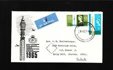 England Elizabeth Ii B&W Post Office Tower London 1964 Nonphosphorous Cover 1y