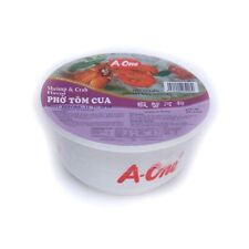 A-ONE SHRIMP & CRAB FLAVOUR BOWL INSTANT RICE NOODLES - 12 BOWLS