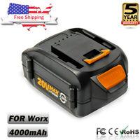 WA3525 20V For WORX MAX 4.0Ah Lithium Battery WA3520 WA3575 WG151S WG155S WG160