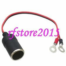 Car Cigarette Lighter to 8mm Ring Terminals 18AWG 1FT Wire for Power supply