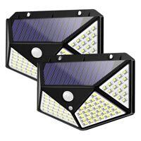 Luci Solari LampaDe da Esterno un 100 Led con Sensore di Movimento Lampada  S4G9