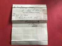 John C Wilson & Co Brass and Bell Founders  1884  Glasgow receipt R33507