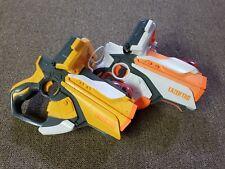 2 NERF Lazer Tag Gun Blasters - Iphone Ipod Dock #01 - 2012 Hasbro - Awesome!