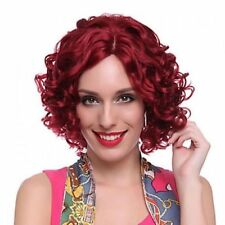 "2017 Cos red short curly  cosplay full Heat-Resistant  women""s wig"