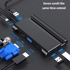 Type c Docking station hdmi USB 3.0 HDMI VGA RJ45 PD USB Hub for Laptop Computer