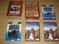 MYST TRILOGY Pc BOXSET Inc. MYST 1 Masterpiece, MYST II Riven & MYST III Exile