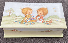 Vintage Betsey Clark Special Treasures Trinket Jewelry Box Girls Cat Hallmark
