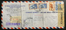 1941 Argentina Coleman Lamp Censored Cover To Toronto Canada