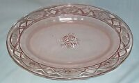 """Federal ROSEMARY PINK *12"""" OVAL PLATTER*"""