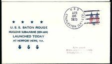 1975 USS Baton Rouge SSN 689 Ship Cover  a