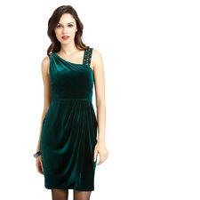 NWT US$163 AU$218 DECODE 1.8 Embellished Velvet Evening Dress Emerald AU8-10 S