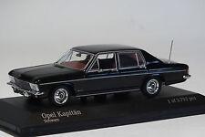 Minichamps Opel Kapitän B 1:43, nero, Modellino auto, RARO