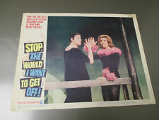 1966 STOP THE WORLD I WANT TO GET OFF Lobby Card VG-11x14 #3  Leila Croft