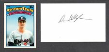 Dave Gallagher ( Debut 1987 ) CLE WHX LAA  SIGNED AUTOGRAPH AUTO 3x5 INDEX COA