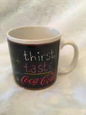 Coca Cola Company Mug Cup Teacher+Thirst+Taste Always = Coca Cola 1995 Vintage