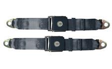 C2 Corvette 1965-1966E Bowtie Lift Latch Seat Belts w/Boot and Winder-Navy Blue
