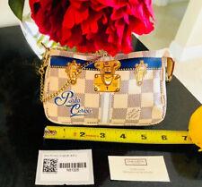 Louis Vuitton PORTO CERVO MINI POCHETTE ACCESSORIES Damier Azur Blue Clutch Bag