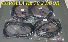 TOYOTA COROLLA KE70 DX 2 DOOR CUPE Set winshieds & weatherstrip seal 4 pcs
