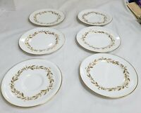 4 X BREAD PLATES & 2 SAUCERS - SAGUENAY BY ROYAL WORCESTER