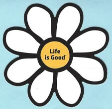"""NEW LIFE IS GOOD DIE CUT 4"""" STICKER DECAL...DAISY CLOUD WHITE!!"""