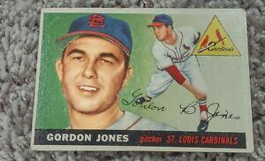 1955 TOPPS #78 GORDON JONES  ERROR VARIATION  WEIRD BACK STATS UNGRADED EX