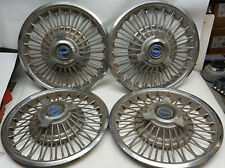 1965 1966 Ford Mustang 14 Inch Wire Spoke 3 bar Spinner Hubcaps P/N C50A-1130-B