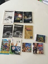 GROS LOT NOTICES MARIO ZELDA NINTENDO 64 GAMECUBE