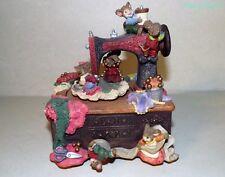 Vintage Sewing Mice Musical Figurine  Tune My Favorite Things
