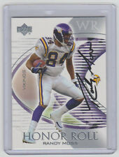 RANDY MOSS Vikings SIGNED 2003 Upper Deck Honor Roll #22 Autograph ON CARD AUTO