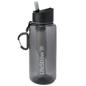 LifeStraw Go 1L Water Filter Bottle for Hiking, Travel, School and Emergency Pre