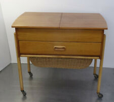 mid century Danish Design sewing table 60s Nussbaum Designer Tisch Nähtisch 60er