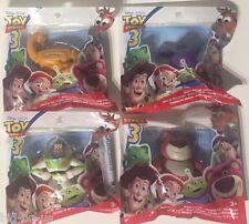 Lot of 4 Toy Story 3 Mini BUDDY FIGURES pack Lotso CHUNK Buzz Lightyear STRETCH