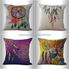 4pcs cushion covers native American dreamcatcher bedding decorative pillows