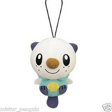 "Pokemon GO Black White OSHAWOTT 3"" Plush Doll Toy Elastic Hang Strap BW Movie"