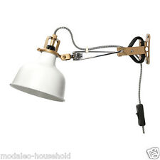 IKEA Stylish RANARP Wall /clamp spotlight,off-white for home, 34x14cm UK-B786
