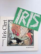Hommage à Iris Clert + Carton invitation de Arman pour l'expo Acropolis 1986