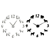 Different Dog Breeds Large Wall Clock Dog Lovers Pet Owners Home Decor Gian B1J4