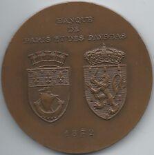 MEDAILLE - BANQUE DE PARIS ET DES PAYS BAS - 1972 // Qualité: SUP