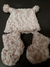 0-3mths hat&bootie set,multi-color,polyester,