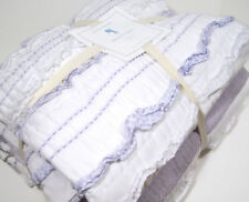 Pottery Barn Kids Lavender Purple Ruffle Ribbon Stripe Brigette Twin Quilt Sham