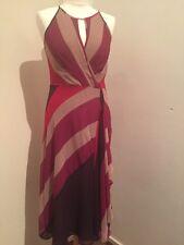 Magnifique Rose beige et violet Wrap Over Robe COAST Taille 10