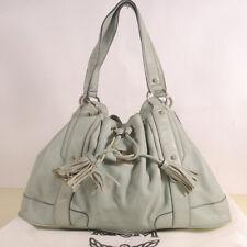 AUTHENTIC MCM  Leather Drawstring Shoulder Bag + Dust Bag