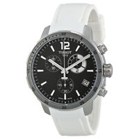 Tissot Quickster Soccer World Cup Black Dial White Silicone Mens Watch