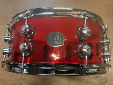 """Natal Arcadia Red Acrylic Snare Drum 14"""" x 5.5"""""""