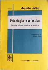 AMLETO BASSI PSICOLOGIA SCOLASTICA GIUNTI BARBÈRA 1973