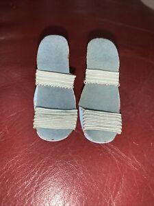 Vintage Madame Alexander Cissy Light Blue High Heel sandal Shoes