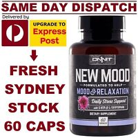ONNIT New Mood 60 Caps, 5-HTP L-Tryptophan Relaxation Joe Rogan JRE VALUE SIZE!