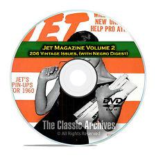 Jet Magazine, Negro Digest, Volume 2, 206 Vintage Issues, 1960-1963, PDF DVD C97